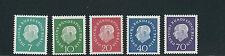 GERMANY BERLIN 1959 HEUSS (Scott 9N165-9) VF MNH