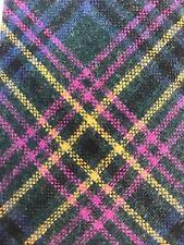 Bull + Moose 100% Wool Multicolored Plaid Knit Neck Tie