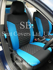 i - TO FIT A RENAULT GRAND SCENIC CAR, SEAT COVERS, BLACK/BLUE DIAMOND, FULL SET