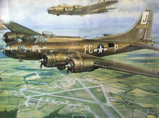 """""""CABIN IN THE SKY"""" B-17 US Flying Fortress *Signed Print* 390th BG Framlingham"""