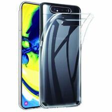 Samsung Galaxy A80 Clear Bumper Phone Case Ultra Slim Silicone Protective Cover