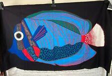 Barbara Brenner Fish Fabric Panel Wall Art Intair Stoffdesign 1970s 64 x 35