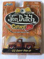 Jada Toys Von Dutch Garage '53 1953 Chevy Pick Up Truck Brown Die-Cast 1/64