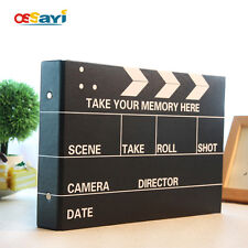 "10"" DIY Black Photo Album Ring Binder Memory Clapper Board Album"