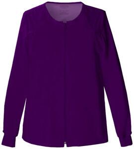 Cherokee Workwear Scrubs Stretch Women's Zip Front Warm-Up Jacket
