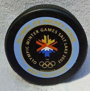 Olympic Winter Games Salt Lake 2002 Lindsay  Rare NHL Collector Hockey Puck -