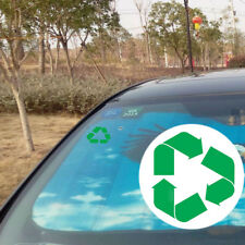 1pc Green Recycle Symbol Logo Sticker Adhesive Removable Wall Car Vinyl Decal