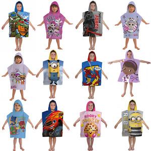 Boys Girls Kids Novelty Marvel Character Hooded Towel Poncho Swim Beach Bath