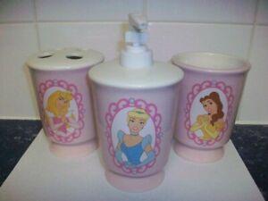 NEW Disney PRINCESS Bath Accessories Soap Toothbrush Cup BELLE Cinderella AURORA