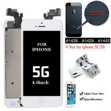 for iPhone 5 5g White LCD Digitizer Display Touch Full Screen Home Button Camera
