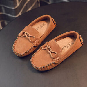 Kid Boy Girl Casual Loafer Flat Shoe Casual Baby Walk Trainner Boat Peas Shoes