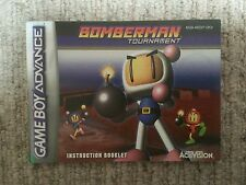 Bomberman Tournament - Game Boy Advance GBA Instruction Manual Only