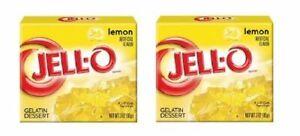 Jell-O Lemon Gelatin Dessert Mix 2 Box Pack