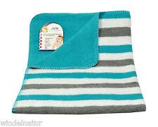 Baby Wendedecke Streifen türkis 75x100 Baumwolle ASMi Babydecke Kind Decke