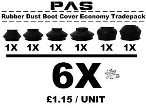 UNIVERSAL TRACK ROD END BALL JOINT RUBBER DUST BOOT COVERS GAITERS TRADEPACK 6X