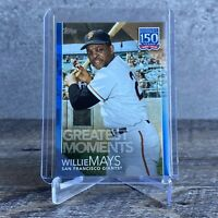 WILLIE MAYS SP BLUE Greatest Moments 2019 Topps Update Series 150-59 150 years