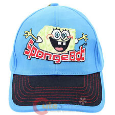 SpongeBob Kids Hat Adjustable Baseball Cap - Hands Up Blue Boy's Hat