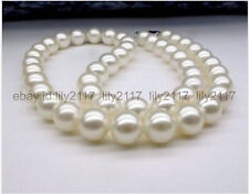 AAA Genuine New 9-10mm White JAPANESE AKOYA PEARL NECKLACE 18 Inch