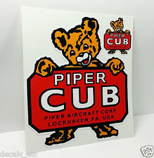 Piper Cub Aircraft Co. Lockhaven PA Vintage Style Airplane Decal / Vinyl Sticker