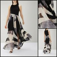 CoastMaxi Dress Size 8   Black Aria Geo Print Style   BNWT   £159 RRP   New!