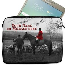 "Personalised Tablet Case HORSE HUNT Neoprene Sleeve Cover 7"" 8"" 9"" 10"" 11"" SH129"
