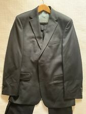 $950 Hugo Boss Navy Blue Suit 38R Jacket Trousers 32 W selection tailored line