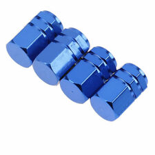 4 Premium blue Aluminum Tire/Wheel Air Stem Valve Caps for car-truck-hot rod SUV