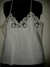 "Vintage Lady Lynne Cami~sz M Bust 18""~Lace~Nude Cream Nylon~Camisole Usa~FreeS&H"