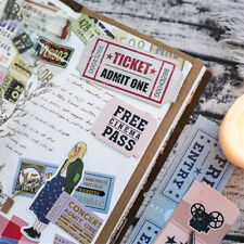 30pcs Vintage Tickets Paper Bookmarks Concert Coupon Train Stub Tab Gifts Books