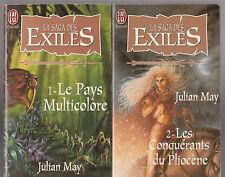 LA SAGA DES EXILES tomes 1 et 2 JULIAN MAY  livre fantasy série Milady