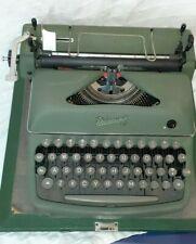 Rheinmetall Vintage Antique Olive Green Typewriter-WORKS