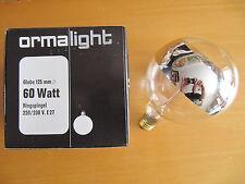 ormalight Lámpara de globo G125 E27 Anillo ESPEJO PLATA 60w Ø125mm Bombilla