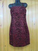 Guess Jeans Women's Red Leopard Print Dress Size 9