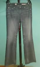 AG ADRIANO GOLDSCHMIED Angel grau Bootcut Distressed 5 Pocket Jeans 30 x 34