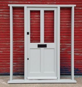 Hardwood Timber Front Door with sidelights! Bespoke! Made to measure!