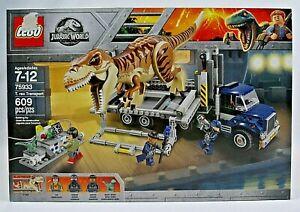 LEGO JURASSIC WORLD SET 75933 T. REX TRANSPORT NEW IN FACTORY SEALED DAMAGED BOX