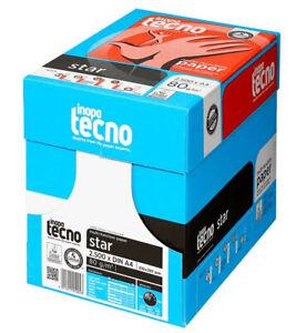 Kopierpapier Inapa Tecno Star A4 50000 Blatt weiß Druckerpapier 80g Papier