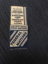 Vintage Matchbook Cover Matchcover Federal Matches Federal Match Corp No Striker