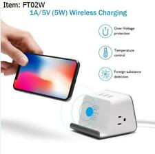 Wireless Charging Station 3 USB Hub Charging 3 Amp 2 AC Outlets Portable