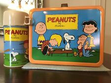 Vintage Unused Mint Condition 1966 King Seeley PEANUTS-Schulz Lunchbox & Thermos
