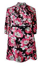 Floral 3/4 Sleeve Shirt Dresses for Women