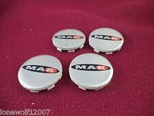 Mak Wheels Chrome Custom Wheel Center Caps Set Of FOUR