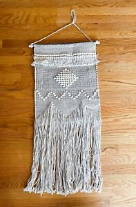 Made In India 100% Cotton Woven Macrame Wall Hanging Boho Decor