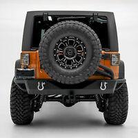 For 07-17 Jeep Wrangler JK Rock Crawler Angry Style Rear Bumper Rubicon Sahara