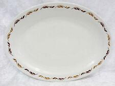 "Bristile / Wembley ware Platter (11 1/2"")  dark & light brown leaves pattern a/f"