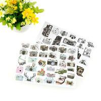 camera adhesive paper sticker diy gift card photo scrapbook diary decor  DD