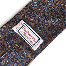 Hathaway Men's Blue Multi Colour Paisley Neck Tie Mad Men Era