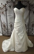 W35 MARTINA LIANA 1006 SZ 14 $2799 CANDLELITE STRAPLESS 100% SILK  WEDDING GOWN