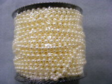 Pearls on String  Cream 4mm - 5 metres