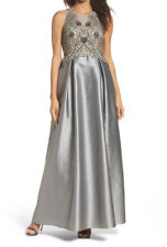 Adrianna Papell New Embellished Mesh & Faille Ballgown Size 10 MSRP$349 #BN 1886